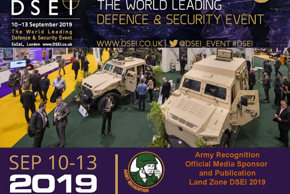 DSEI 2019 Army Recognition Official Media Sponsor and Publication Land Zone Show Daily News TV 925 001