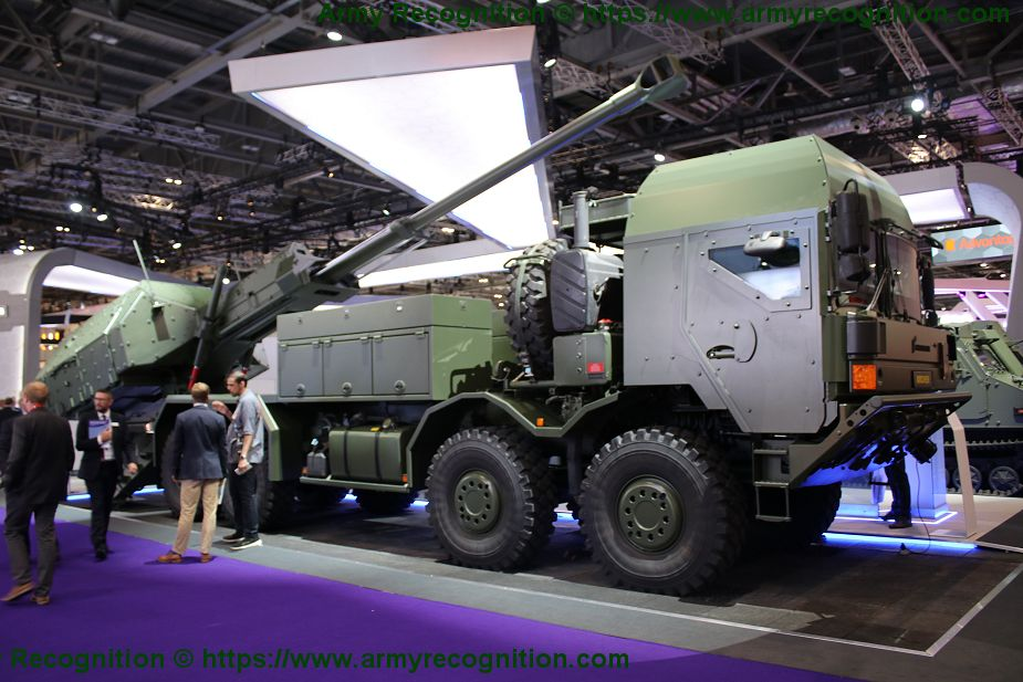 BAE Systems new ARCHER 155mm self propelled howitzer based on 8x8 MAN truck chassis DSEI 2019 925 001