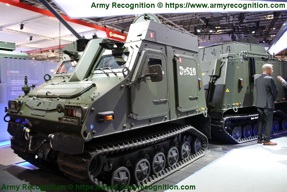 BAE Systems showcases BvS10 all terrain vehicle fitted with Generic Vehicle Architecture DSEI 2019 925 001