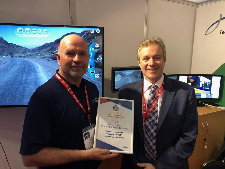 DSEI 2019 Pleora wins DSEI Best in Show Award from Military Embedded Systems for RuggedCONNECT