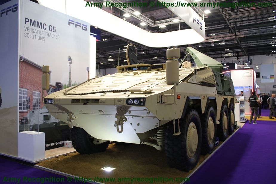 German Company FFG shows its new recovery module for Boxer 8x8 armored DSEI 2019 925 001