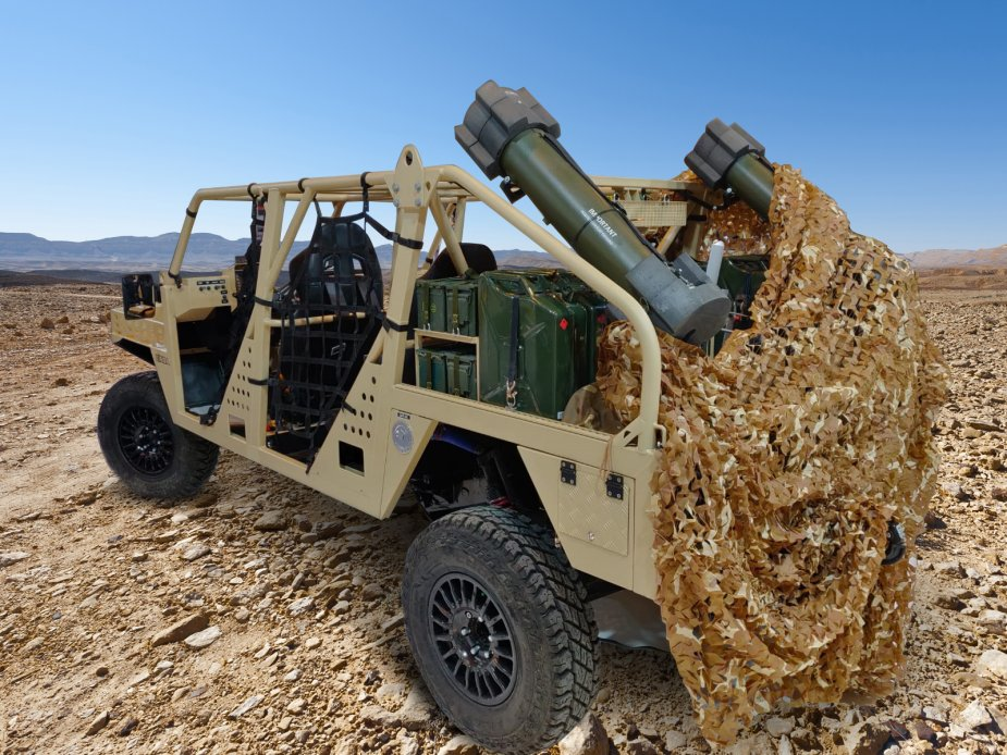 UVision presents Hero loitering munitions mounted on EINSA Neton Hero LM