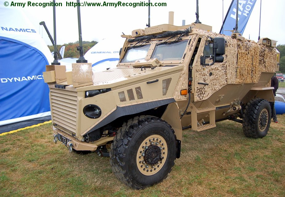DVD 2018 General Dynamics Mission Systems UK displayed Hawk hotspot technology on Foxhound vehicle