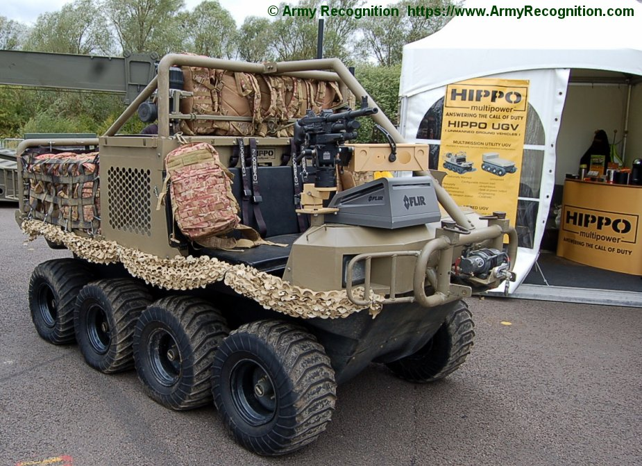 DVD 2018 Hippo displays amphibious vehicles and UGV