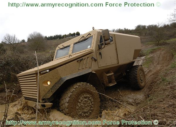 Force Protection Europe's contract winning light protected patrol vehicle for the British Army, with the Ocelot. At IAV 2011, Force Protection presents for the first time to the public, the version of the Ocelot variant which will be delivered to the British army and the new utility variant.