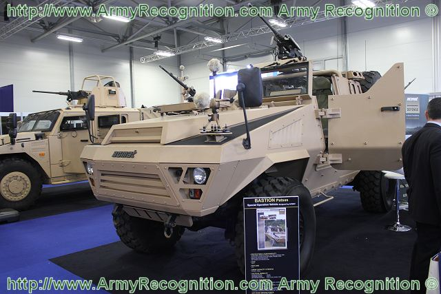 The Bastion Patsas is an open-top armoured Special Operation vehicle which has been designed to offer a solution that combine mobility, protection and firepower for long duration operations.