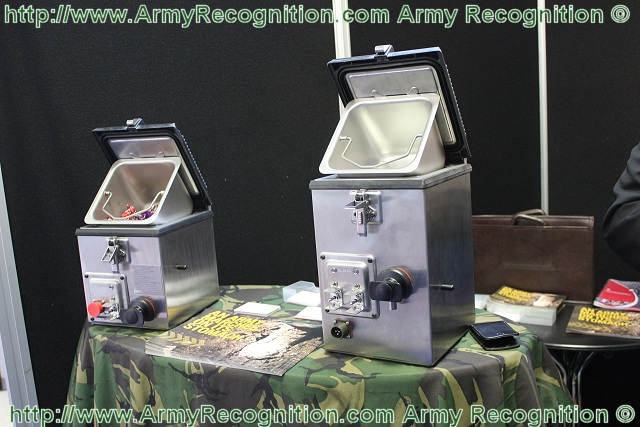 The RAK15/30 is at the optimal size to fit into the cramped quarters of a tank and provide hot meals and drinks for its five person crew, heating 2 pints of water and 5 MRE's (Meals Ready to Eat) simultaneously.