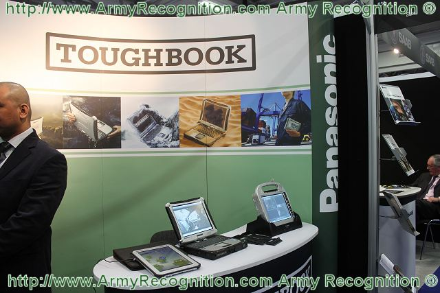 Tablet PCs are also become a tool for the armed forces. To meet this need, the famous Company Panasonic hardware that manufactures a full range rugged computers for military use introduces its new rugged Tablet PC Toughbook CF-D1 at International Armoured Vehicles 2012.