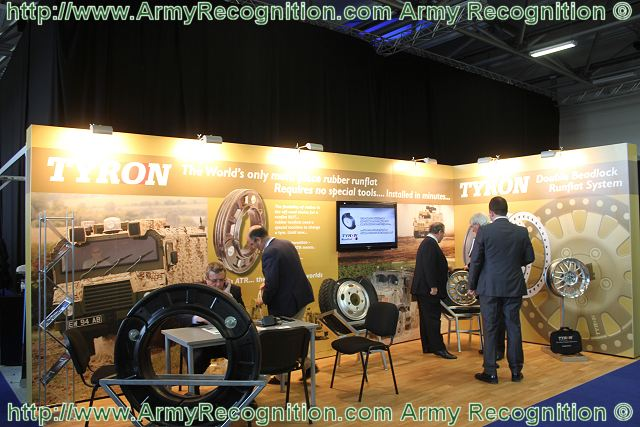 The Tyron Company, specializing in flat tyre protection, presents its range of military application products at the International Armoured Vehicles conference, taking place on February 21 & 22, 2012 in Farnborough UK.