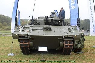 Ajax reconnaissance ISTAR tracked armored vehicle General Dynamics United Kingdom British army front view 001