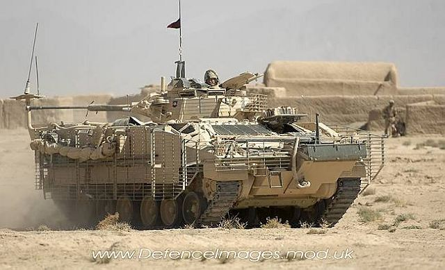 British armoured vehicles Warrior are now more protected ...