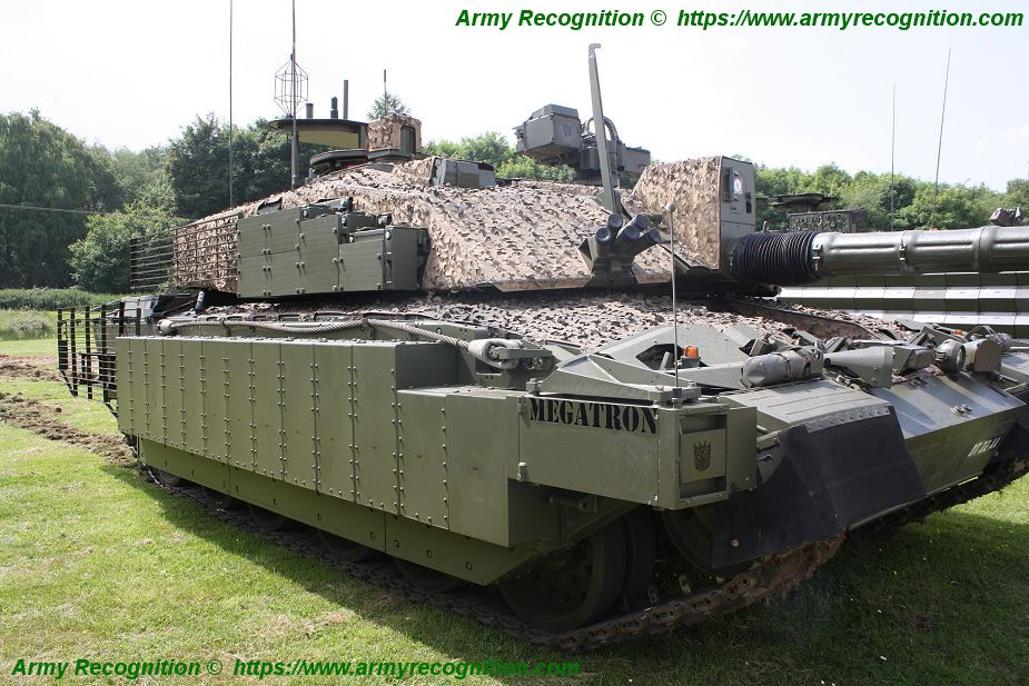 Challenger 2 TES MBT Megatron main battle tank United Kingdom British Army defense industry details 004