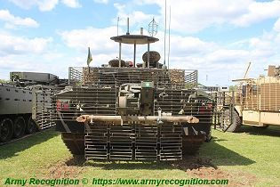 Challenger 2 TES MBT Megatron main battle tank United Kingdom British Army defense industry rear view 001