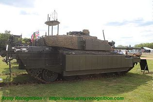 Challenger 2 TES MBT Megatron main battle tank United Kingdom British Army defense industry right side view 001