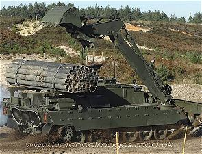 Trojan Engineer Armoured Vehicle Mine Clearance Obstacles