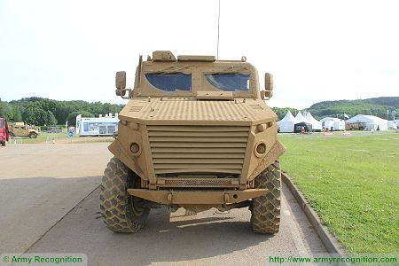 Foxhound LPPV Light Protected Patrol Vehicle United Kingdom British army front side view 002