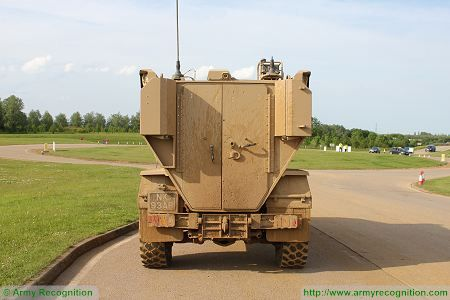 Foxhound LPPV Light Protected Patrol Vehicle United Kingdom British army rear back side view 002