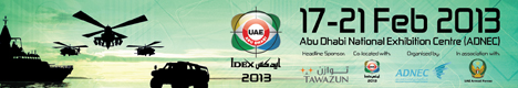 IDEX 2013 Show daily news coverage report International Defence Exhibition pictures video photos images actualités information description visitors exhibitors Abu Dhabi United Arab Emirates February 17 21