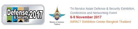 Defense and Security Tri-Service Asian Exhibition 2017 Bangkok Thailand