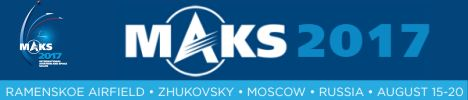 MAKS 2017 International Aviation and Sopace salon Moscow Russia