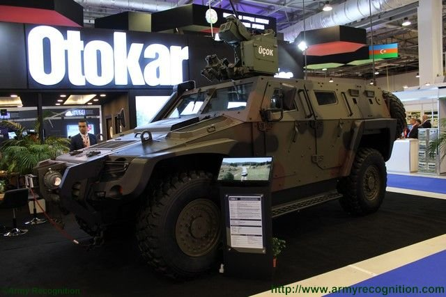 ADEX 2016 Otokar presents new UCOK stabilized remote control weapon station ADEX 2016 001