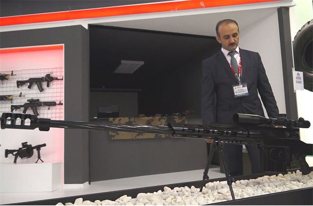 During ADEX 2016, Azerbaijan's Defense Industry Ministry has unveiled two new types of local-made sniper rifles , the NST and the Vashaq.