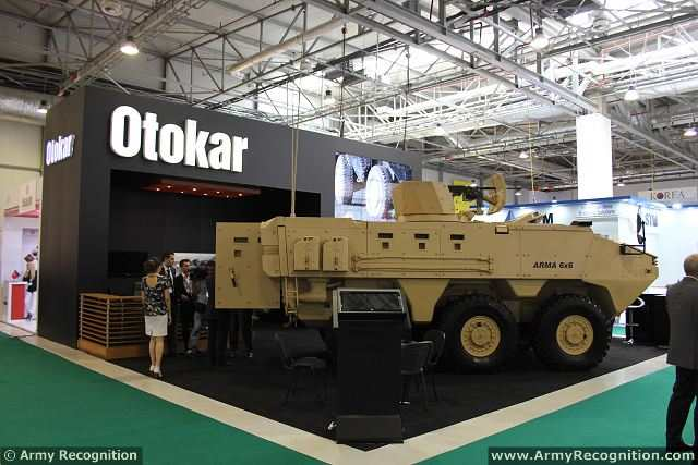 Otokar presents arma 6x6 new generation of wheeled for International azerbaijan decor expo