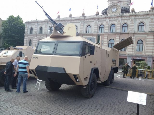 During the Independence Day of Georgia, May 26, 2016, the State Military Scientific-Technical Center Delta has unveiled a new prototyoe of 120mm wheeled self-propelled mortar carrier under the name of GMM-120.