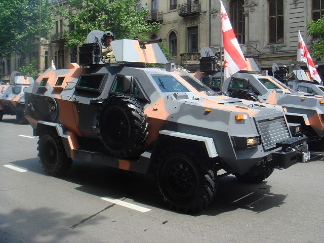 Didgori-1 4x4 wheeled multirole armoured vehicle personnel carrier Georgia Georgian army 640 002