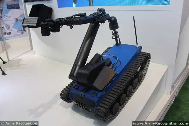 The Turkish Company Aselsan presents latest development of Explosive Ordnance Disposal Unmanned Robot KAPLAN at KADEX 2014, the International Exhibition of weapons systems and Military equipment in Astana (Kazakhstan). The KAPLAN EOD robot is currently in service with the Turkish Police.