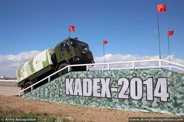 At KADEX 2014, the International Exhibition of weapons systems and Military equipment in Astana (Kazakhstan), the Belarus Company VOLAT (Minsk Wheel Tractor Plant) presents its latest 4x4 light tactical truck MZKT-5002.