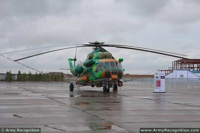 Russian Helicopters, a subsidiary of Oboronprom, part of State Corporation Rostec, has signed an agreement with the Kazakhstan Emergencies Ministry for a Mi-171E helicopter, with delivery planned for 2015. The Mi-171E is a modification of the Mi-8/17 series.