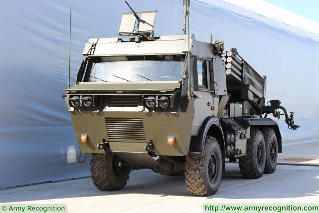 "The State Defense Company of Kazakhstan KAZTEC unveils a new modernization project for Soviet-made BM-21 122mm MLRS (Multiple launch Rocket System) under the name of BM-21 MARS ""Grad"" or KazGRAD 1KGBK15 which has now the capacity to fire guided missile."