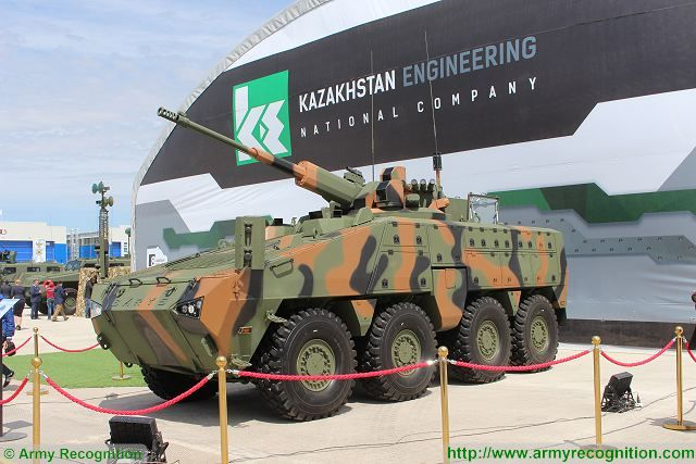 "Paramount Group the African-based global defence and aerospace company and Kazakhstan Enginneer unveil new generation of 8x8 Infantry Combat Vehicle named ""Barys"" at KADEX 2016, Kazakhstan defense exhibition in Astana."