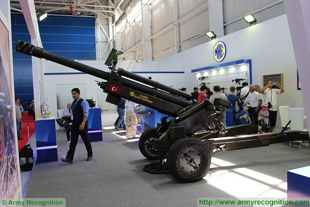 MKE 105mm air transportable light towed howitzer KADEX 2016 defense exhibition Astana Kazakhstan 001