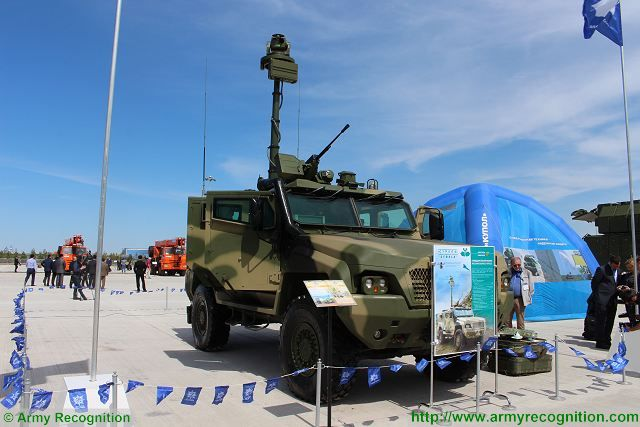 The Russian Defense Company Strela, a subdivision of Almaz-Antey unveils its new 4x4 reconnaissance armoured vehicle at KADEX 2016, the Kazakhstan Defense Exhibition. This vehicle is based on the KamAZ-53949 chassis which is a wheeled combat vehicle in the category of MRAP (Mine-Resistant Ambush Protected Vehicle) vehicle designed and manufactured by Kamaz.