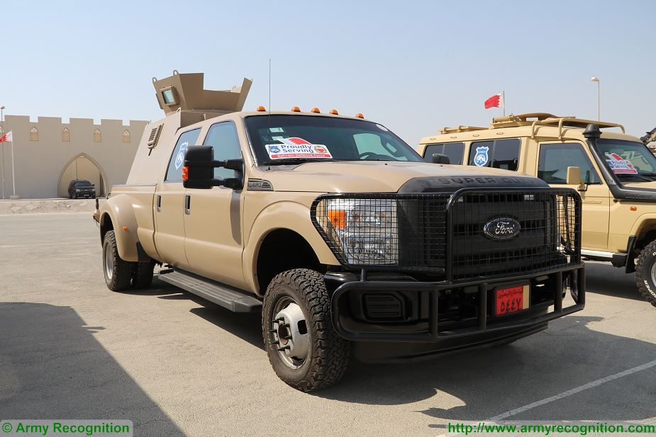 Ford F350 armoured check point vehicle Bahrain Defence Force Streit Group BIDEC 2017 925 001