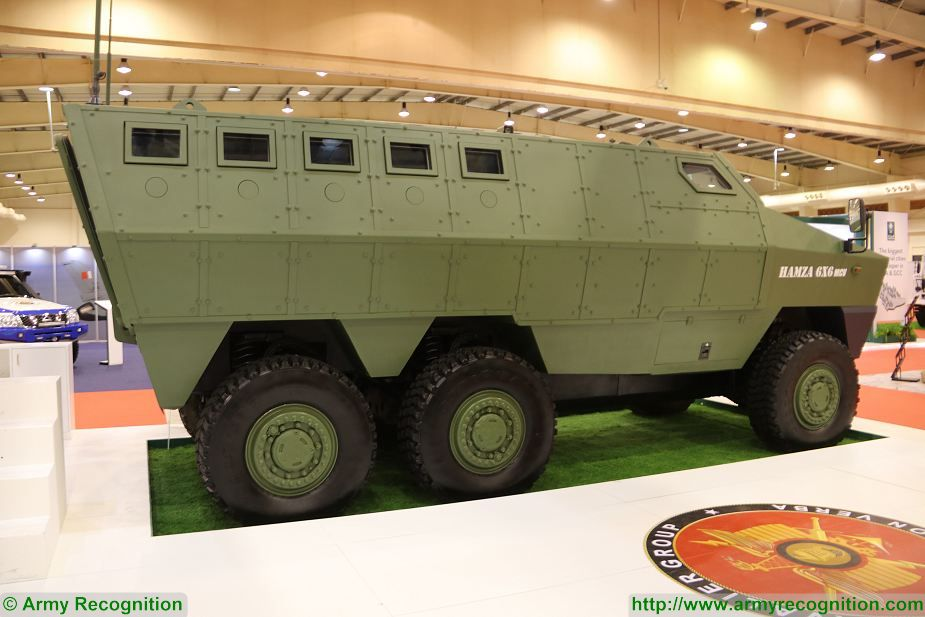 Hamza 6x6 MRAP Mine Resistant Ambush Protected vehicle BIDEC 2017 first edition of Bahrain defense Exhibition 925 002