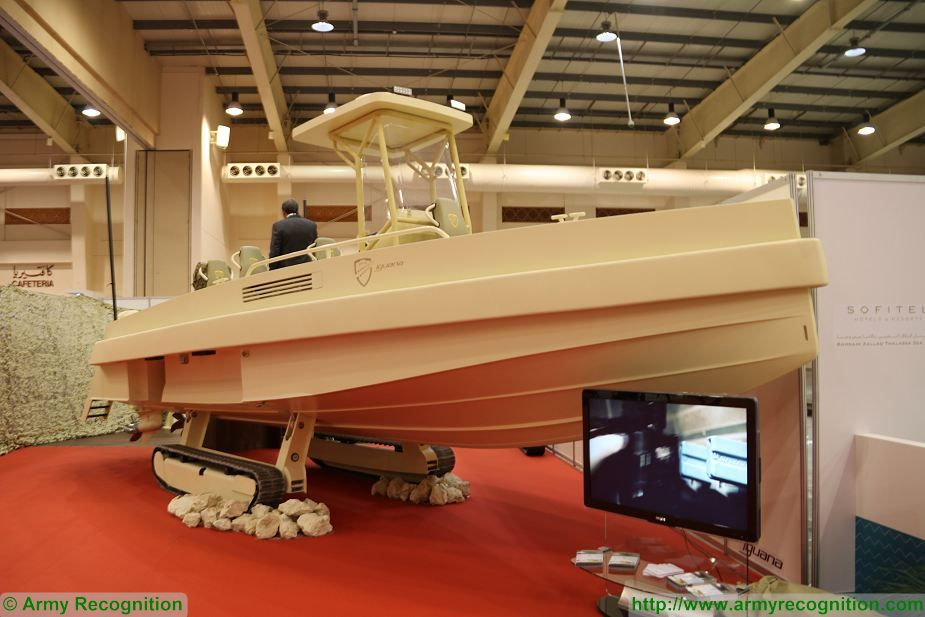 Iguana Pro amphibious boat France BIDEC 2017 first edition of Bahrain defense Exhibition 925 001