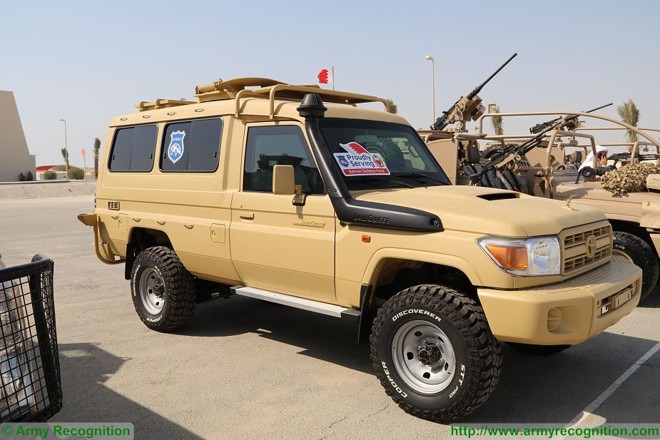 TLC 79 Toyota Land Cruiser 4x4 armoured vehicle Bahrain Defence Force Streit Group BIDEC 2017 925 001