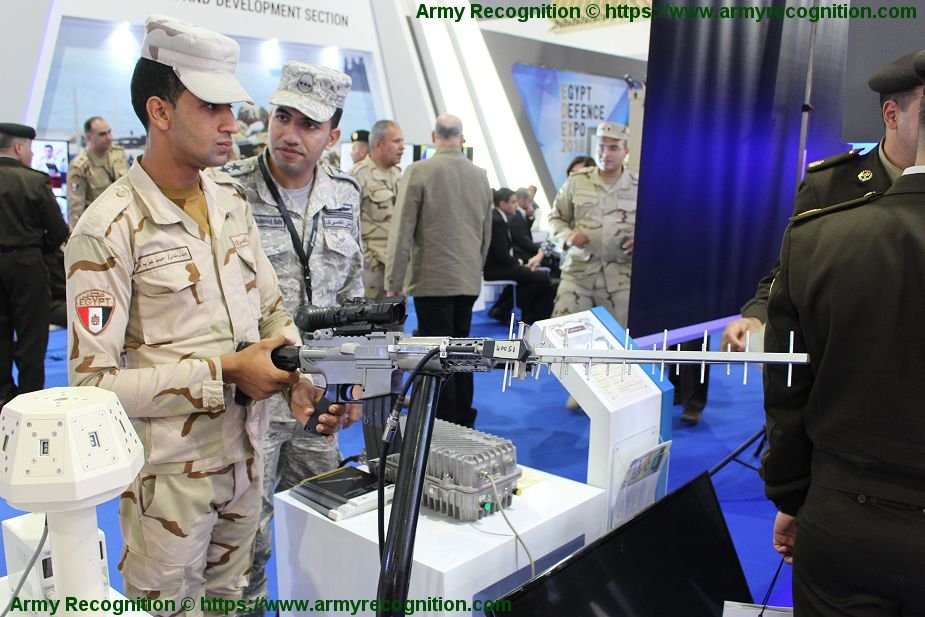EDEX 2018 Egyptian made anti drone rifle