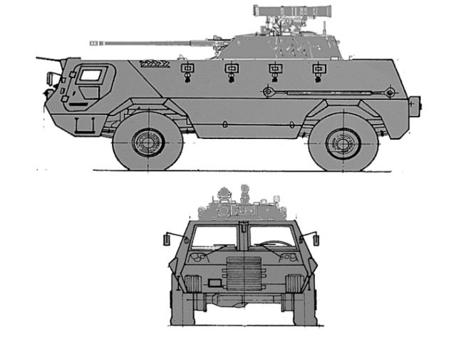 Fahd Fahd-240 APC armoured personnel carrier 30 mm cannon turret technical data sheet specifications description information intelligence pictures photos images video identification Egypt Egyptian army defence industry military technology