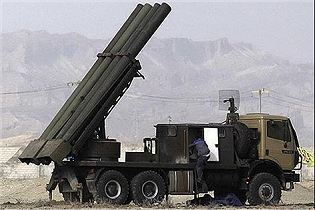 Fadjr-5 333mm multiple rocket launcher system technical data sheet specifications description information intelligence identification pictures photos video Iran Iranian army defence industry military technology