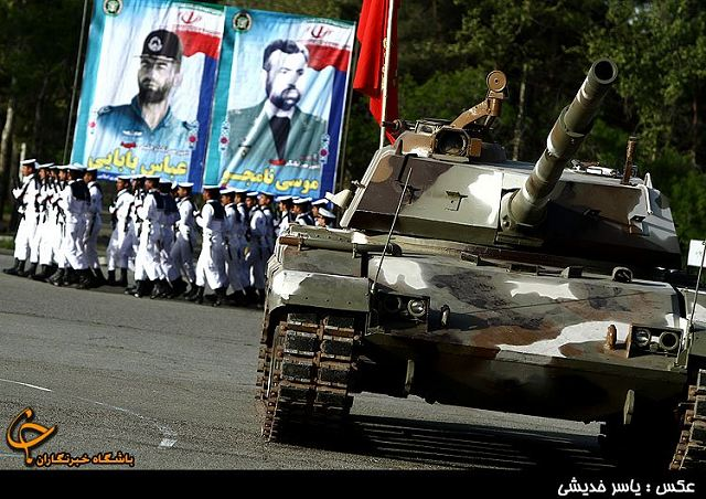 The first generation of Iranian-made main battle tank Zulfiqar