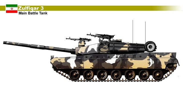 Zulfiqar 3 Zolfaqar main battle tank technical data sheet specifications description information intelligence identification pictures photos video air defence system Iran Iranian army defence industry military technology