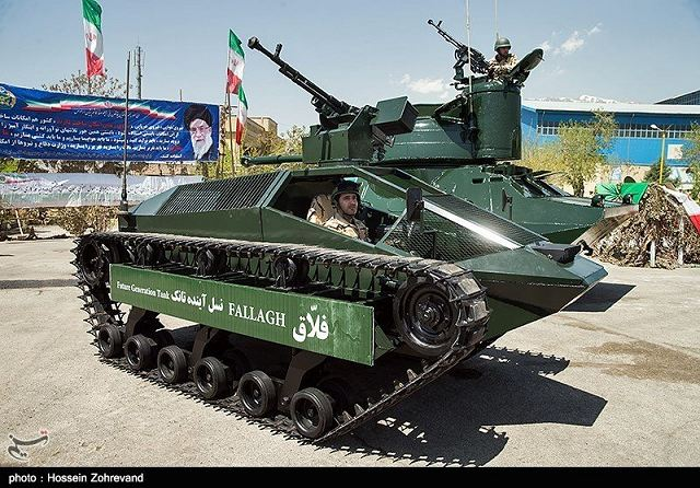 Iranian defense industry unveils the Fallagh, a new light tracked combat vehicle fitted with a remote weapon station armed with a 12.7mm heavy machine gun.