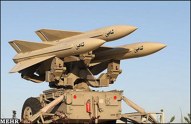 Mersad air defence system Shahin missile technical data sheet specifications description information intelligence identification pictures photos video Iran Iranian army defence industry military technology anti-aicraft