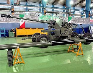 Sa'eer Saeer automatic 100mm anti-aircraft gun technical data sheet specifications description information intelligence identification pictures photos video air defence system Iran Iranian army defence industry military technology