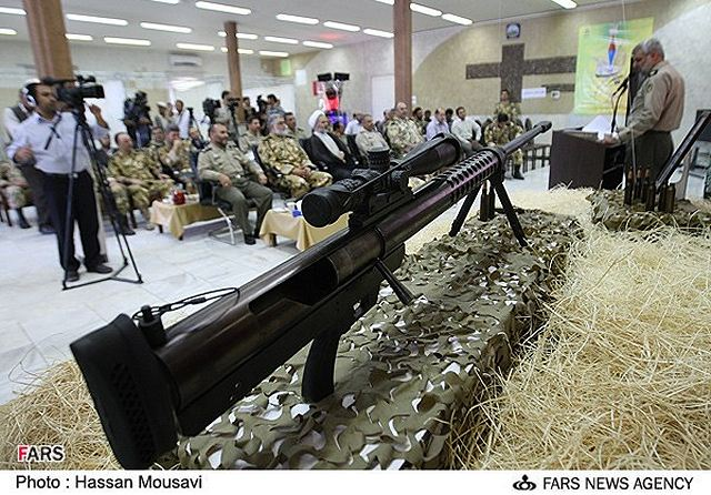 "With a 14.5mm caliber the new Iranian Sniper Rifle ""Shaher"" can be also used as anti-materiel rifle."