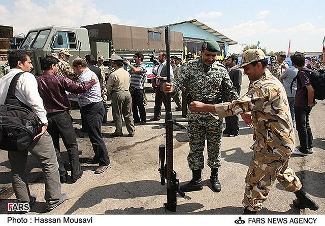 Commander of the Iranian Army Ground Force Brigadier General Ahmad Reza Pourdastan said his forces tested the latest home-made weaponries in military drills in the country's Southwestern province of Khuzestan. The Iranian Army on Monday, December 3, 2012, started two days of wargames in Khuzestan by exercising anti airborne tactics. (FARS News Agency)